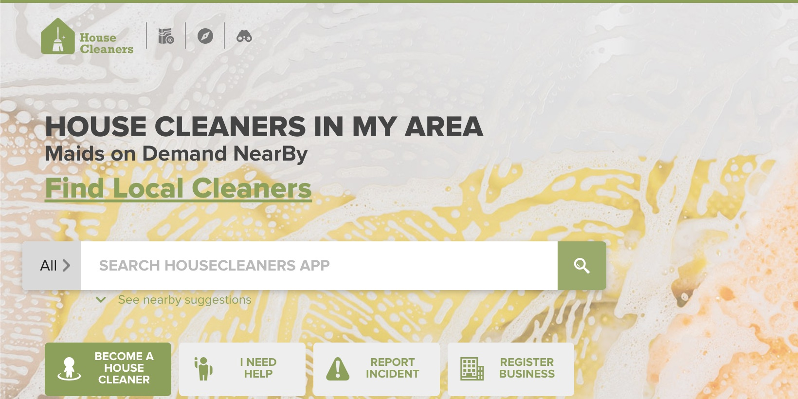 housecleaners.app website